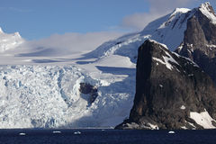 Glaciers and mountains of Antarctica Royalty Free Stock Image