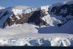 Glaciers and mountains of Antarctica Stock Images