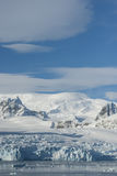 Glaciers and mountains on the coast of the Antarctic Peninsula, Royalty Free Stock Photography