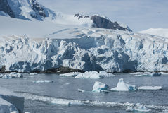 Glaciers and mountains on the coast of the Antarctic Peninsula, Royalty Free Stock Image