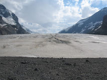 Glaciers and Mountains en route to Wasila Royalty Free Stock Images