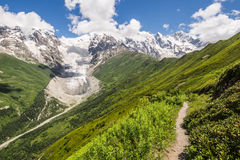 Glaciers in the mountains Stock Images