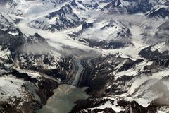 Glaciers, mountains and ice Royalty Free Stock Images