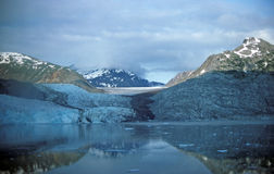 Glaciers, mountains, and ocean Stock Photo
