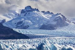 Perito Moreno glacier, one of the hundreds of glaciers coming from the South Ice Field in Patagonia, Argentina royalty free stock images