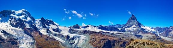 Glaciers panorama Stock Image