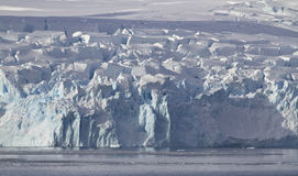 Glaciers slipping on the coast of the Antarctic Royalty Free Stock Photography