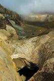 Glaciers on slopes of the active volcano Mutnovsky. Royalty Free Stock Photos