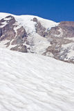 Glaciers and Snow on Mount Rainier Stock Photography