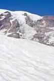 Glaciers and Snow on Mount Rainier Stock Photography