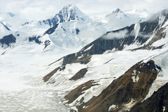 Glaciers and Snowy Mountains in Kluane National Park, Yukon Royalty Free Stock Photography