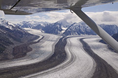 Glaciers at St Elias Range stock image