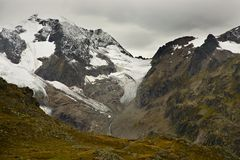 Glaciers in the Swiss Alps Stock Images