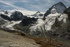Glaciers in Swiss Alps Stock Images