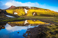 The glaciers and water national park Landmannalaugar Stock Images