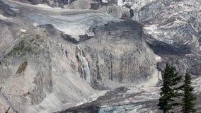 Glaciers and waterfalls. Mount Rainie National Park, Washington stock video