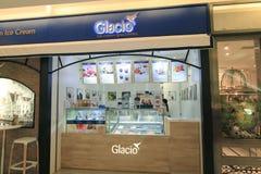 Glacio shoppar i Hong Kong royaltyfria foton