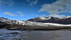 Glaciär på Skaftafell i Island Arkivbild