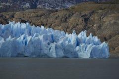 Glaciärgrå färger, Torres del Paine nationalpark, Chile Royaltyfria Bilder
