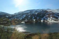 glaciärlake norway Fotografering för Bildbyråer