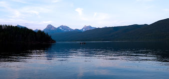 glaciärmontana nationalpark Arkivbild