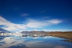 glacjalna Iceland jokulsarlon laguna Fotografia Stock