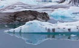 glacjalna Iceland jokulsarlon laguna Fotografia Royalty Free