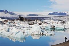glacjalna Iceland jokulsarlon laguna Zdjęcia Royalty Free