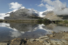 glacjalne jeziorne kanadyjskie góry skaliste Obraz Royalty Free