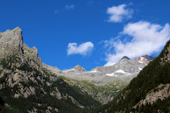 Glacjalny cirque w górach Obrazy Stock