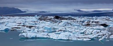 glacjalny Iceland jokulsarlon laguny vatnajokull Zdjęcie Stock