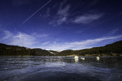 Glacjalny jezioro Fotografia Royalty Free