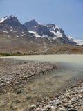 Glacjalny jezioro i zatoczka Zdjęcia Stock