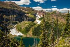 Glacjalny jezioro na Akamina grani śladzie, Waterton NP, Kanada Zdjęcie Royalty Free