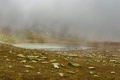 Glacjalny jezioro na wierzchołku Kackar góry Zdjęcie Royalty Free