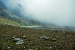 Glacjalny jezioro na wierzchołku Kackar góry Obrazy Royalty Free