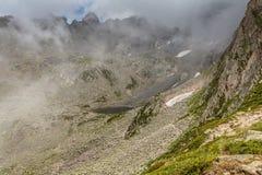 Glacjalny jezioro na wierzchołku Kackar góry Zdjęcie Stock