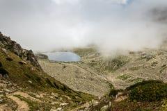 Glacjalny jezioro na wierzchołku Kackar góry Fotografia Stock