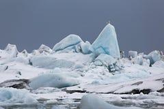 Glacjalny jezioro w Iceland Fotografia Royalty Free