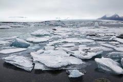 Glacjalny jezioro w Iceland Obrazy Royalty Free
