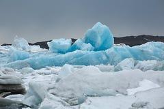 Glacjalny jezioro w Iceland Zdjęcie Royalty Free