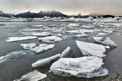 Glacjalny jezioro w Iceland Obraz Stock