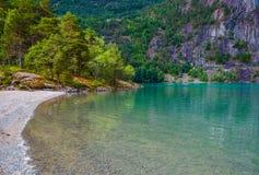 Glacjalny jezioro w Norwegia Zdjęcie Stock