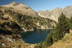 Glacjalny jezioro w Pyrenees Fotografia Royalty Free