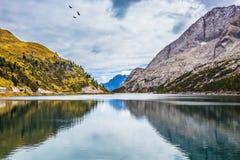Glacjalny jezioro z zimną wodą Zdjęcie Royalty Free