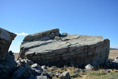 Glacjalny Niekonsekwentnie (rockowa formacja niosąca na lodowach) obraz stock