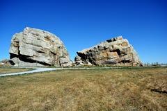 Glacjalny Niekonsekwentnie (rockowa formacja niosąca na lodowach) zdjęcia royalty free