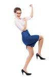 Glad affärskvinna Arkivbild