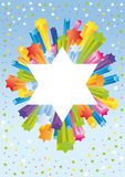 Glad background to the Jewish holiday royalty free illustration