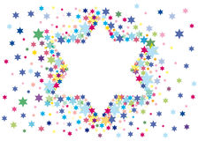 Glad background to the Jewish holiday. Abstract background from the stars of David Royalty Free Stock Images